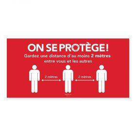 On se protège / 2m / Rouge