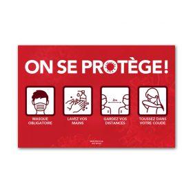 On se protège - Rouge