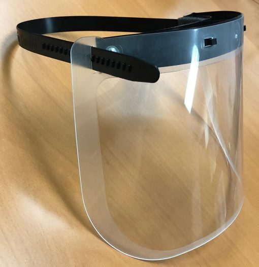 Personal face shield / side view