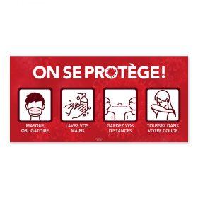 On se protège / Pictogrammes / Rouge