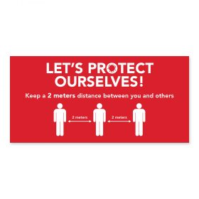 Let's protect ourselves / 2m / Red