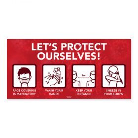 Let's protect ourselves / Pictograms / Red
