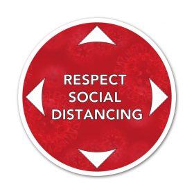 Respect social distancing