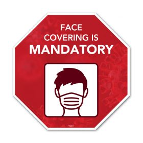 Face covering is mandatory